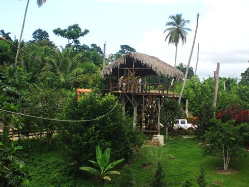 One of the zip lines