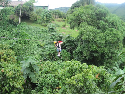 Me in the middle of the zip line