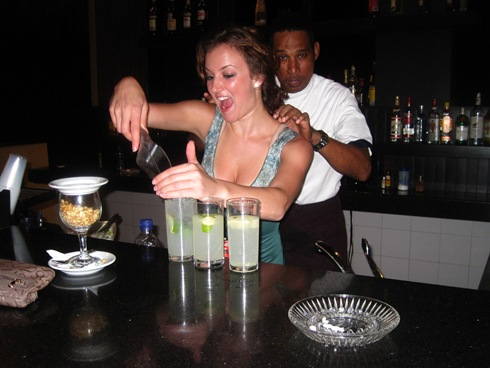 Me making some caipirinha