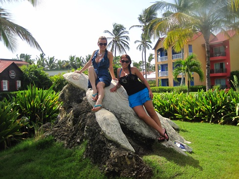 Us sitting on a turtle